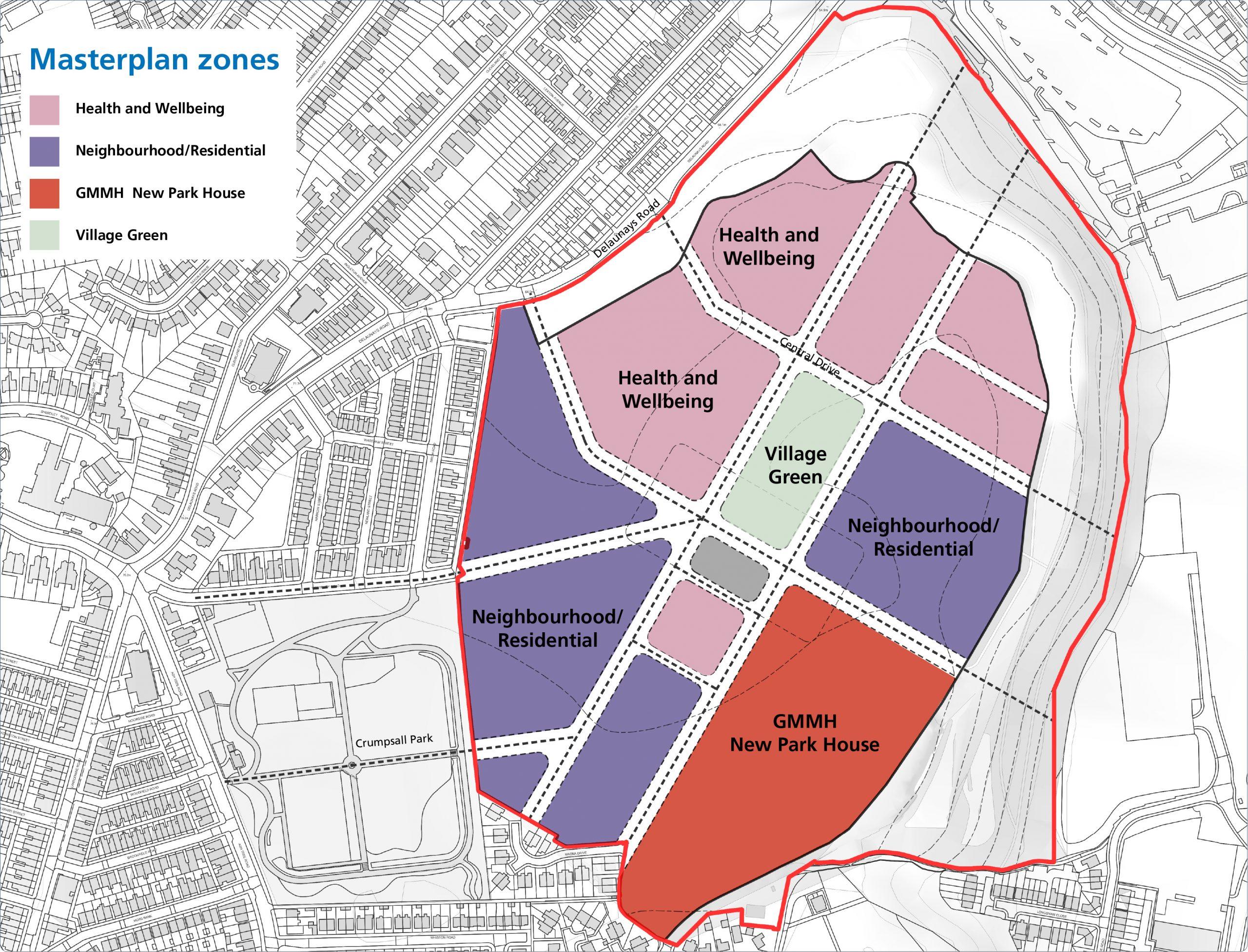 North Manchester Hospital Masterplan Zones