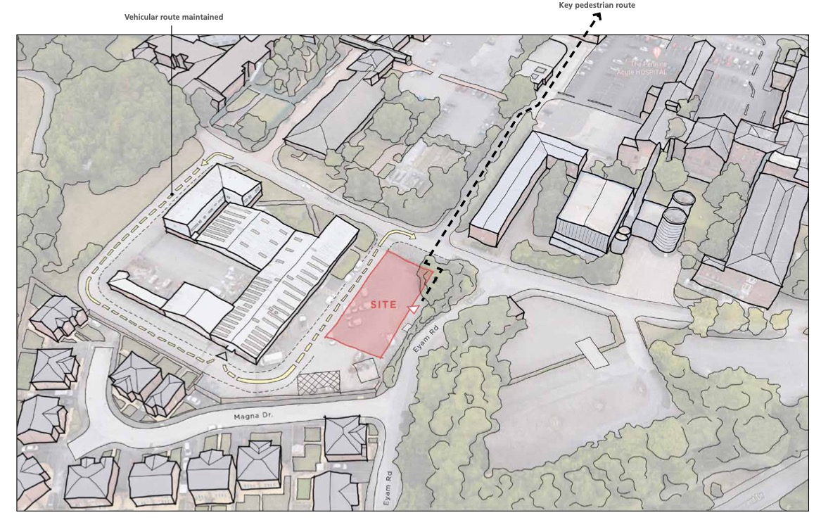 North Manchester Hospital Site Location Plan