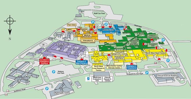 Wythenshawe Hospital Map