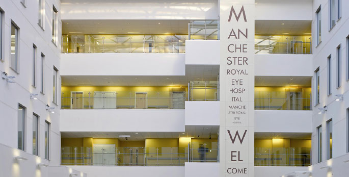 Atrium at Manchester Eye Hospital