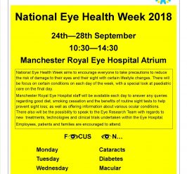 National Eye Health Week 2018