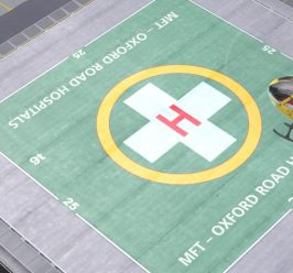 Construction work has begun on the first helipad of its kind in central Manchester