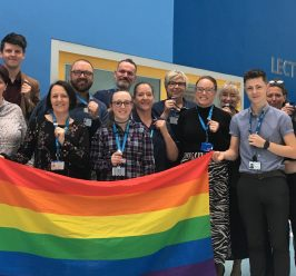 Staff at MFT wear their Rainbow badges with pride