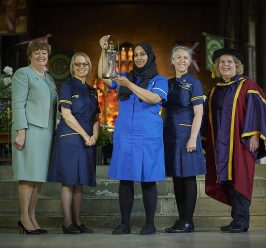 Lamp passed on at Year of the Nurse and Midwife closing event