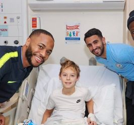 Man City stars visit RMCH and Starlight Unit
