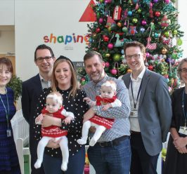 Miracle twins home for Christmas following life-saving surgery and care at MFT hospitals
